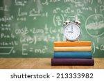 School Books With Alarm Clock...