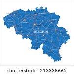 belgium map | Shutterstock .eps vector #213338665
