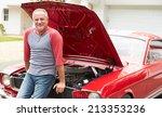 retired senior man working on... | Shutterstock . vector #213353236