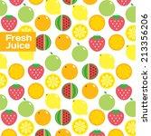 fresh juice and vegetables...   Shutterstock .eps vector #213356206