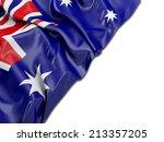 Australian Wavy Flag With