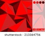 red geometry vector art pattern.... | Shutterstock .eps vector #213364756