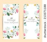 retro flower banners concept.... | Shutterstock .eps vector #213371188