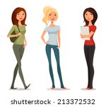 cute cartoon illustration of... | Shutterstock .eps vector #213372532