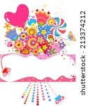 abstract greeting bouquet.... | Shutterstock . vector #213374212