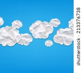 clouds from crushed paper  with ... | Shutterstock .eps vector #213376738