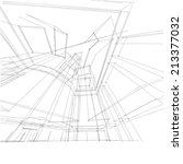 abstract building sketch... | Shutterstock . vector #213377032