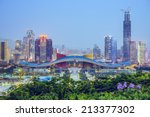 Shenzhen  China City Skyline A...