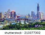 Shenzhen  China City Skyline A...