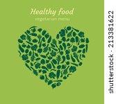 healthy vegetable heart | Shutterstock .eps vector #213381622