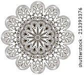 mandala. round ornament pattern.... | Shutterstock .eps vector #213393376