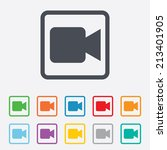video camera sign icon. video... | Shutterstock .eps vector #213401905