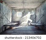 escape from a prison cell. 3d... | Shutterstock . vector #213406702
