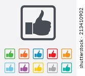 like sign icon. thumb up sign.... | Shutterstock .eps vector #213410902