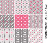 vector seamless tiling patterns ... | Shutterstock .eps vector #213414562