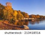 Stock photo golden keswick lakeside 213418516
