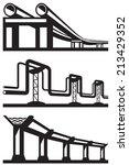 industrial lines set   vector... | Shutterstock .eps vector #213429352