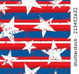 distressed painted american... | Shutterstock .eps vector #213452632