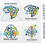brain minimal line style... | Shutterstock .eps vector #213470575