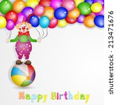 happy birthday greetings. cute... | Shutterstock .eps vector #213471676