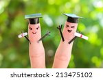 face painted on the fingers.... | Shutterstock . vector #213475102