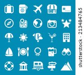 flat travel icons vector... | Shutterstock .eps vector #213484765