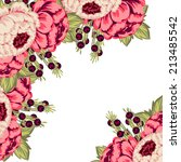 abstract flower background with ... | Shutterstock .eps vector #213485542