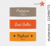 clothing labels. vector.  | Shutterstock .eps vector #213486772