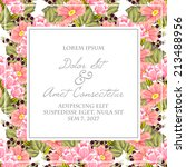wedding invitation cards with... | Shutterstock .eps vector #213488956