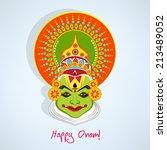 Illustration Of Kathakali Face...