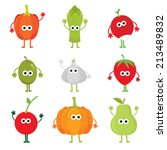 collection of vector cartoon... | Shutterstock .eps vector #213489832