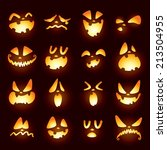 jack o lantern faces | Shutterstock .eps vector #213504955