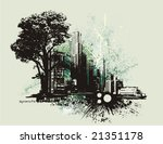 cityscape background with... | Shutterstock .eps vector #21351178