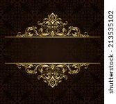 Vector Ornate Gold Border
