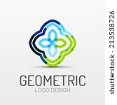 vector abstract geometric shape ... | Shutterstock .eps vector #213538726