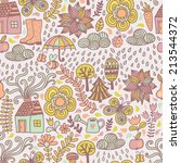 vector seamless pattern  autumn ... | Shutterstock .eps vector #213544372