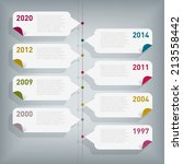 simple infographic timeline.... | Shutterstock .eps vector #213558442