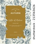 autumn harvest. vector vintage... | Shutterstock .eps vector #213563626