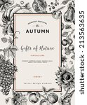 Autumn Harvest. Vector Vintage...