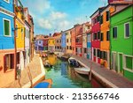 burano  an island in the...