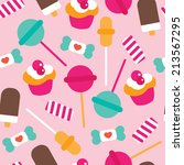 seamless candy lollipop ice... | Shutterstock .eps vector #213567295