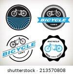 label bicycle vector   Shutterstock .eps vector #213570808