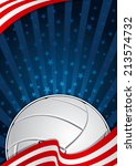 volleyball america background | Shutterstock .eps vector #213574732
