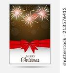 christmas snowflakes website... | Shutterstock .eps vector #213576412