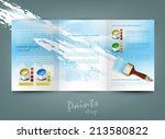 vector flyer template for... | Shutterstock .eps vector #213580822