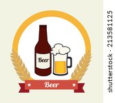 beer design over white... | Shutterstock .eps vector #213581125