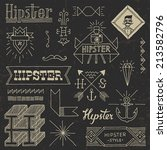 vintage hipster hand drawn... | Shutterstock .eps vector #213582796