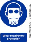 wear respiratory protection | Shutterstock .eps vector #213583366