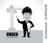 construction design over white... | Shutterstock .eps vector #213591238