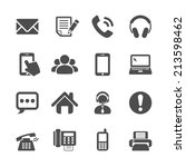 communication icon set  vector... | Shutterstock .eps vector #213598462